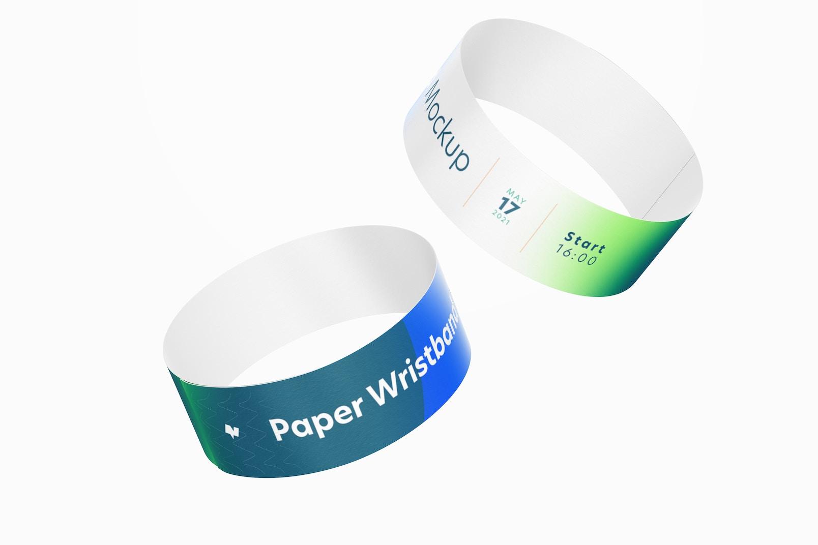 Paper Wristband Mockup, Falling