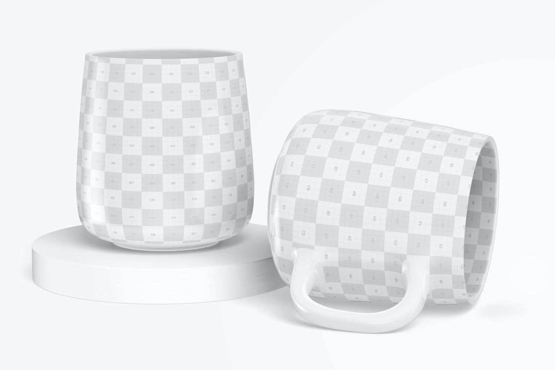 12.2 oz Ceramic Mug Mockup