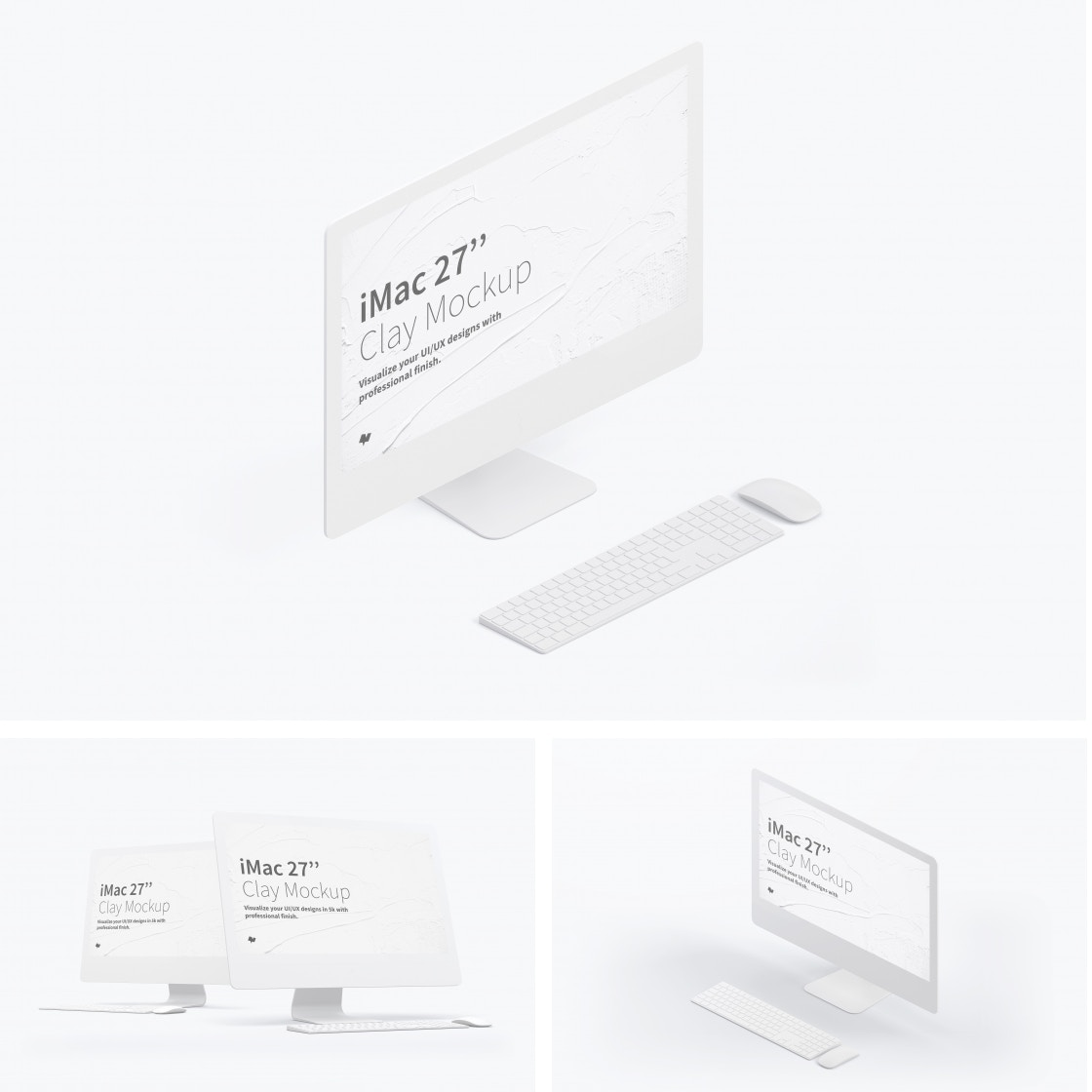 "Clay iMac 27"" Mockups by Original Mockups on Original Mockups"