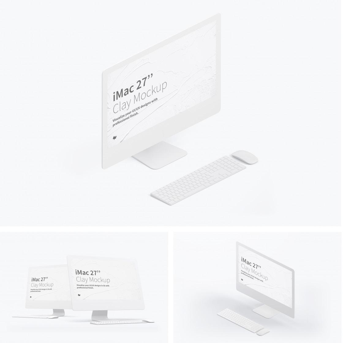 """Clay iMac 27"""" Mockups Poster"""