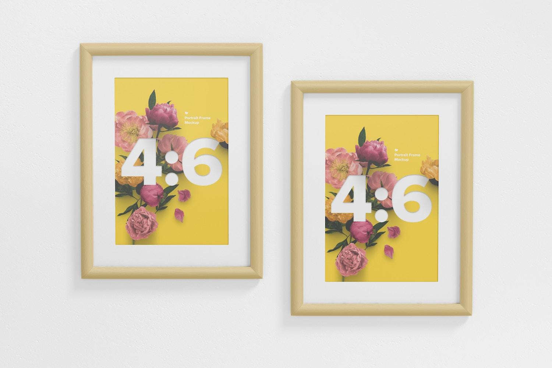 4:6 Portrait Frames Mockup