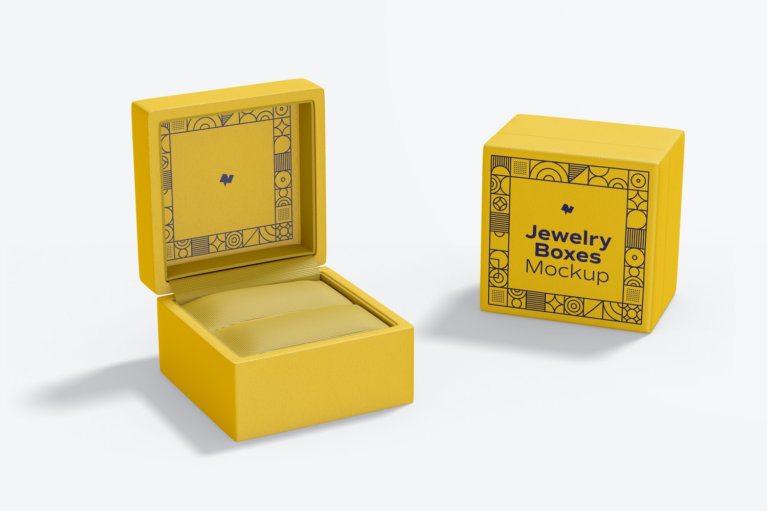 Jewelry Boxes Mockup, Front View