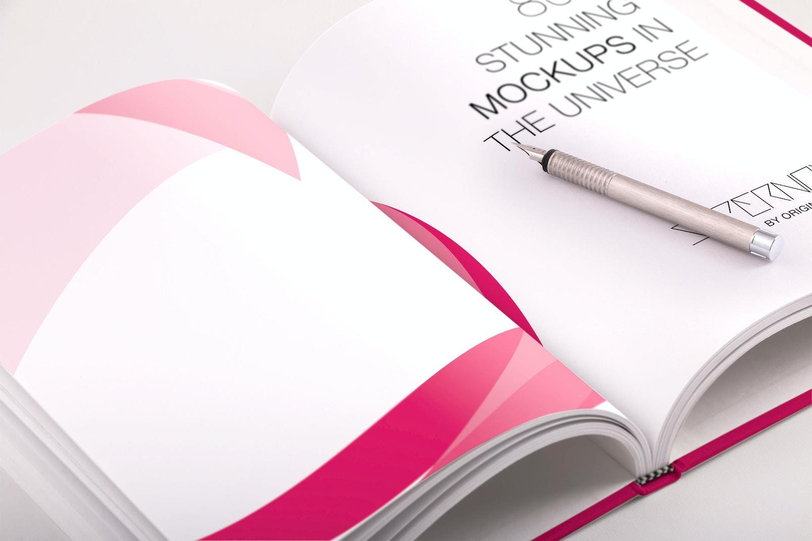 Hardcover Standard Portrait Book PSD Mockup 03