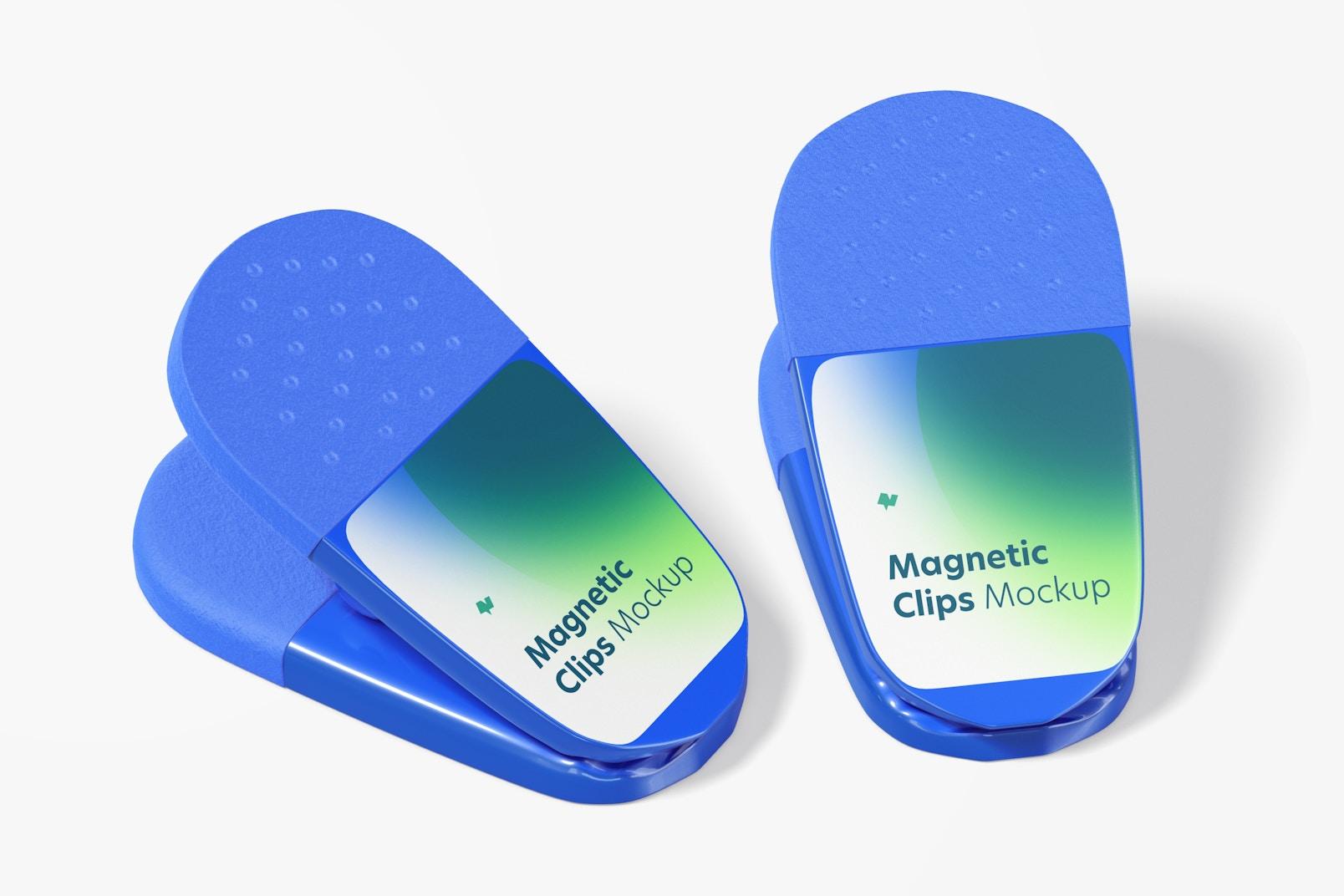 Promotional Magnetic Clips Mockup