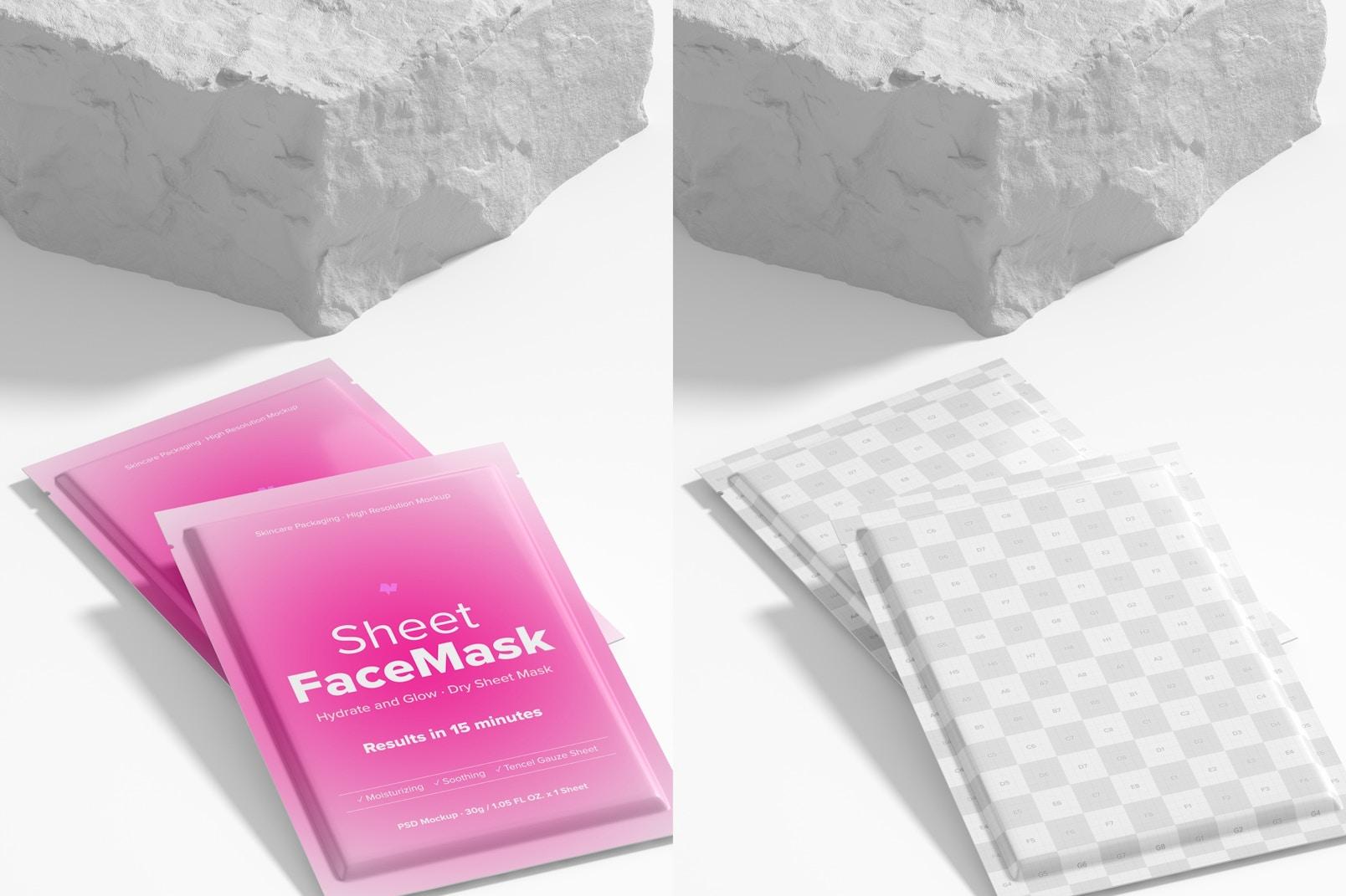 Sheet Face Mask Scene Mockup 02