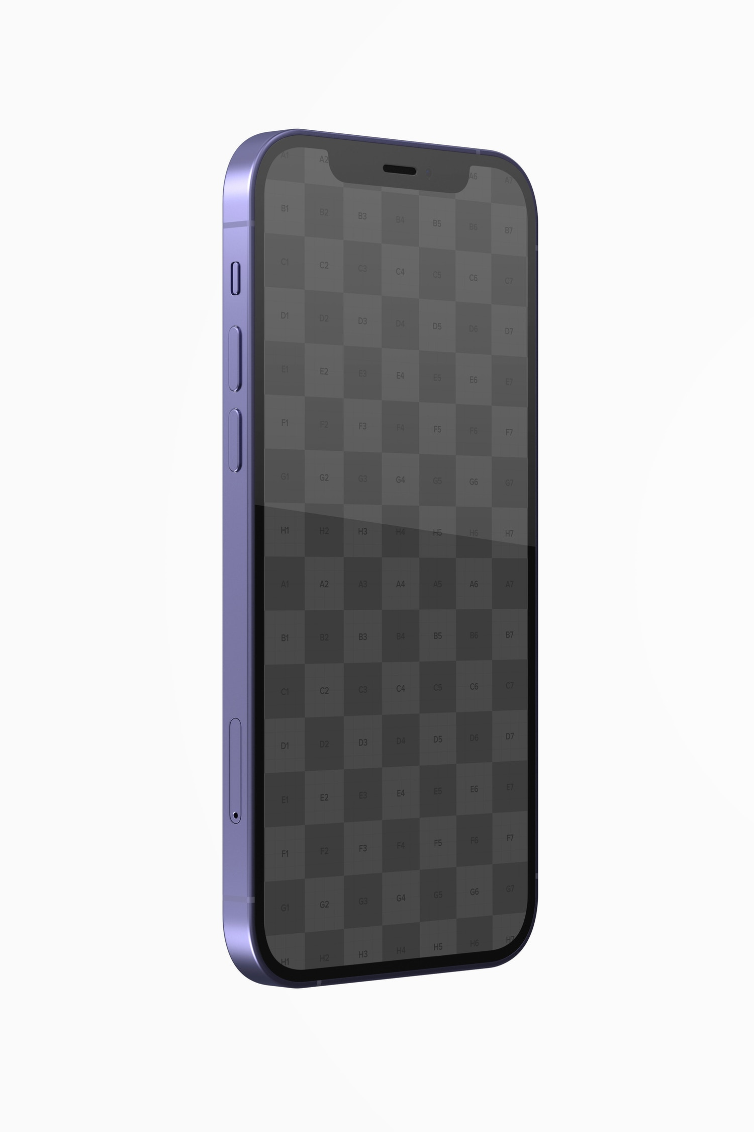 iPhone 12 Purple Version Mockup , Right Side View