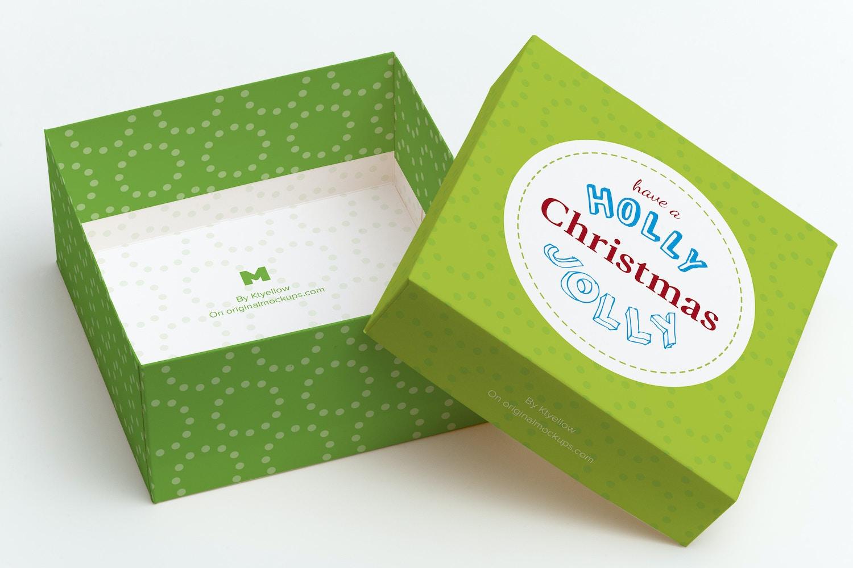 Big Gift Box Mockup 01 by Ktyellow  on Original Mockups