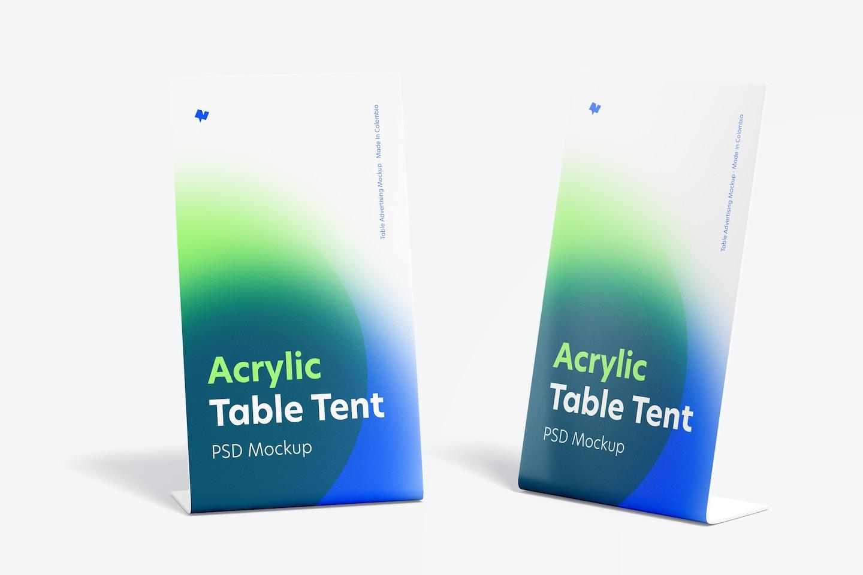 Acrylic Table Tents Mockup