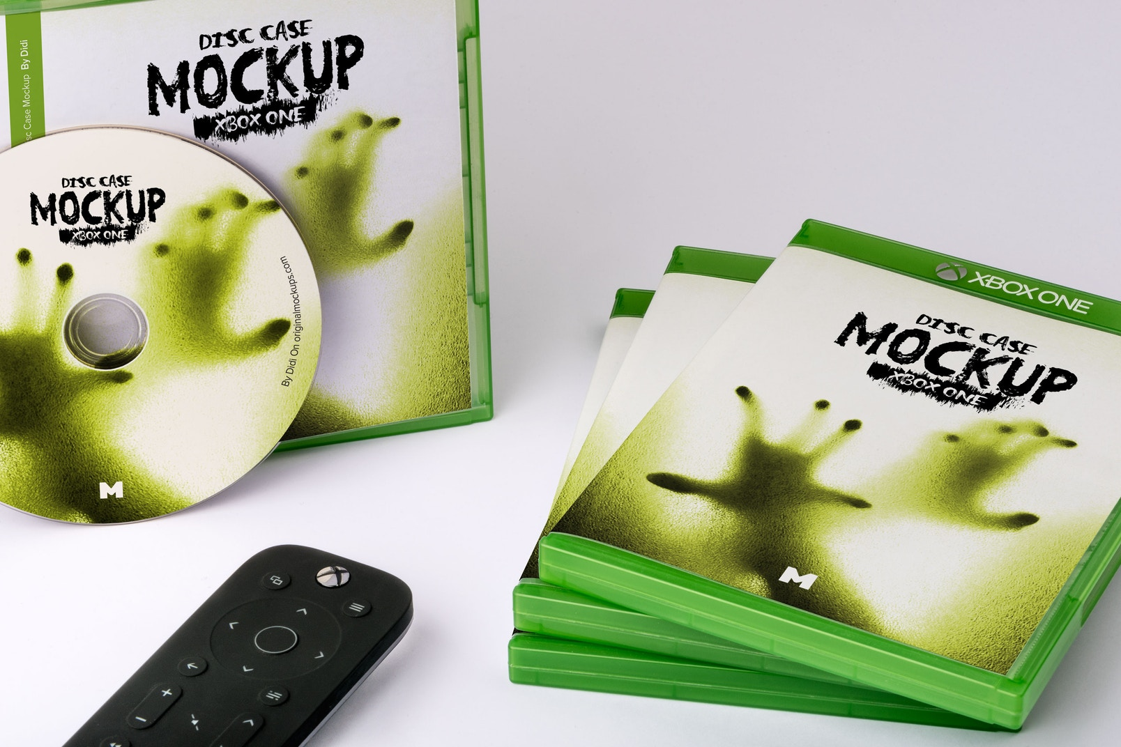 Xbox One Disc Cases mockup full scene