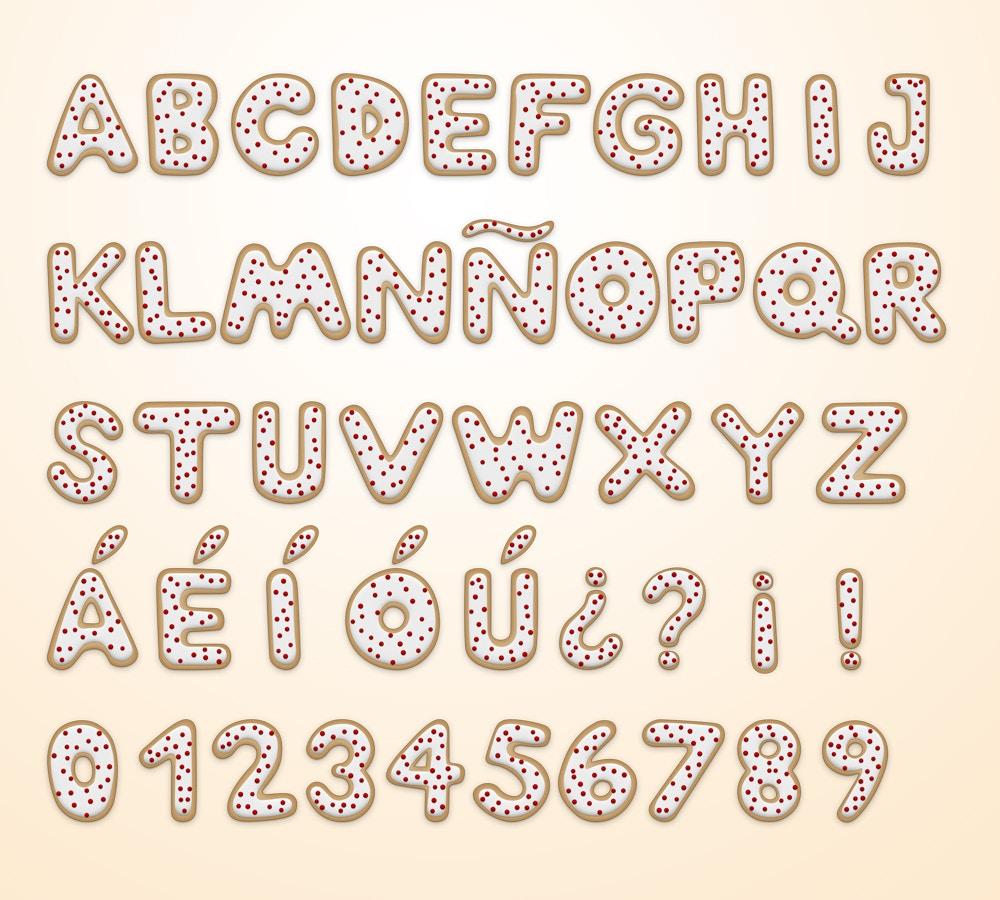 Christmas Cookie Alphabet (3) by Original Mockups on Original Mockups