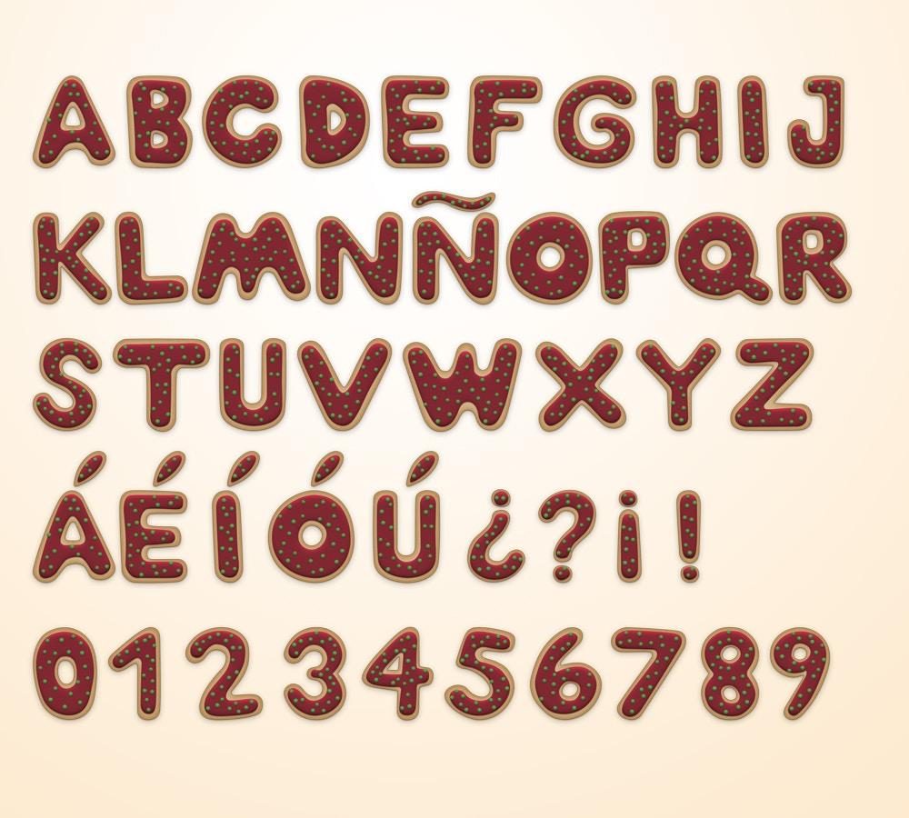Christmas Cookie Alphabet (4) by Original Mockups on Original Mockups