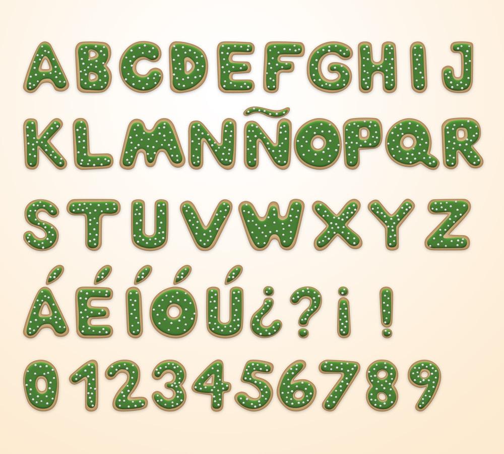Christmas Cookie Alphabet (5) by Original Mockups on Original Mockups