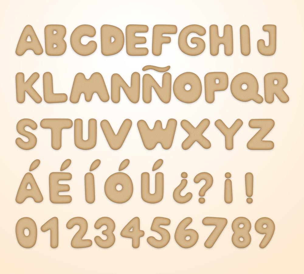 Christmas Cookie Alphabet (6) por Original Mockups en Original Mockups