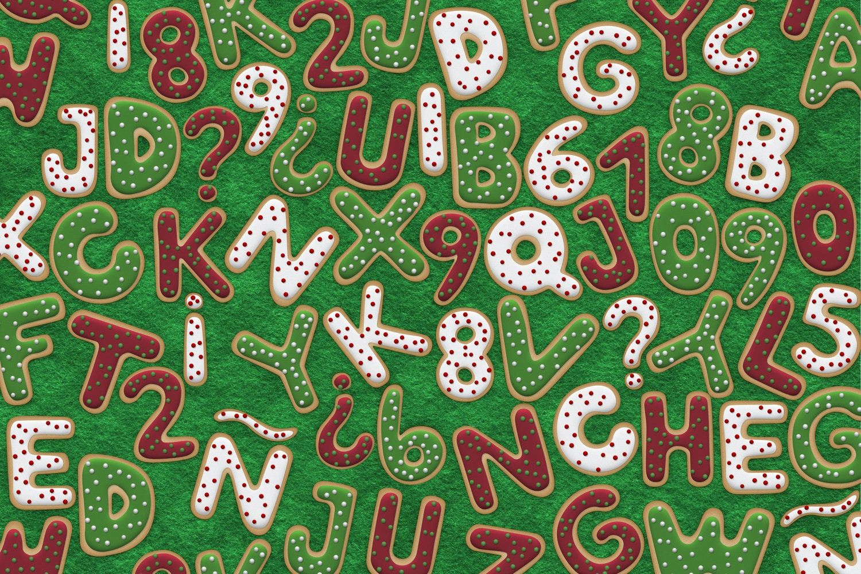 Christmas Cookie Alphabet by Original Mockups on Original Mockups