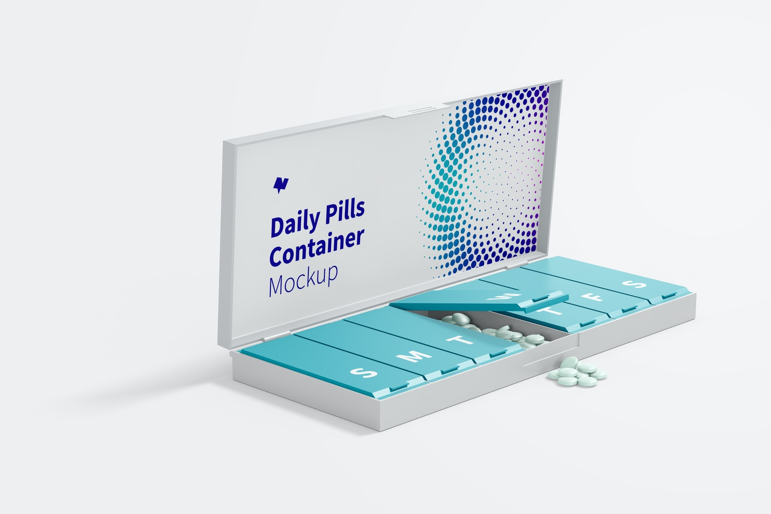 Daily Pills Container Mockup