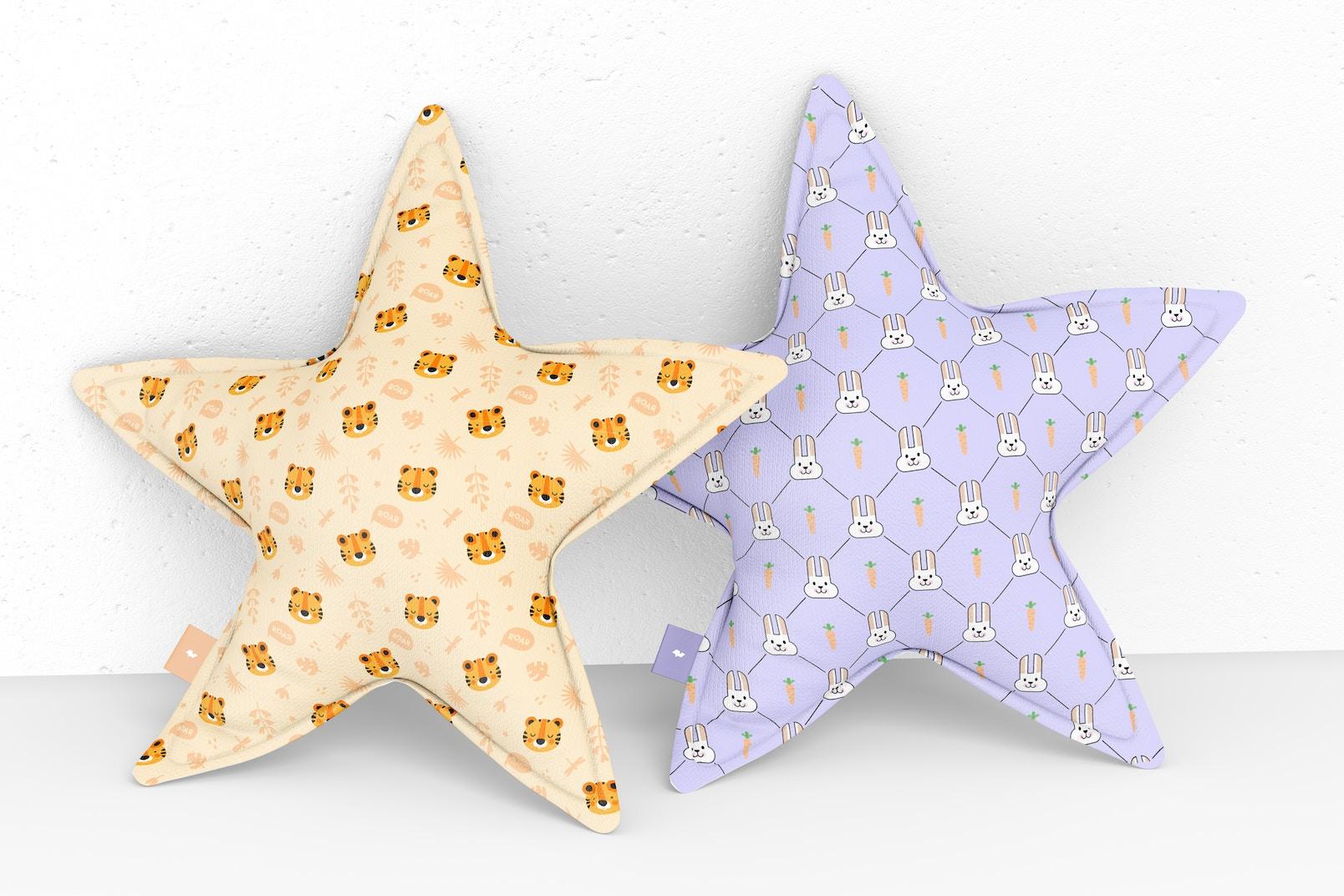 Star Pillows Mockup, Perspective