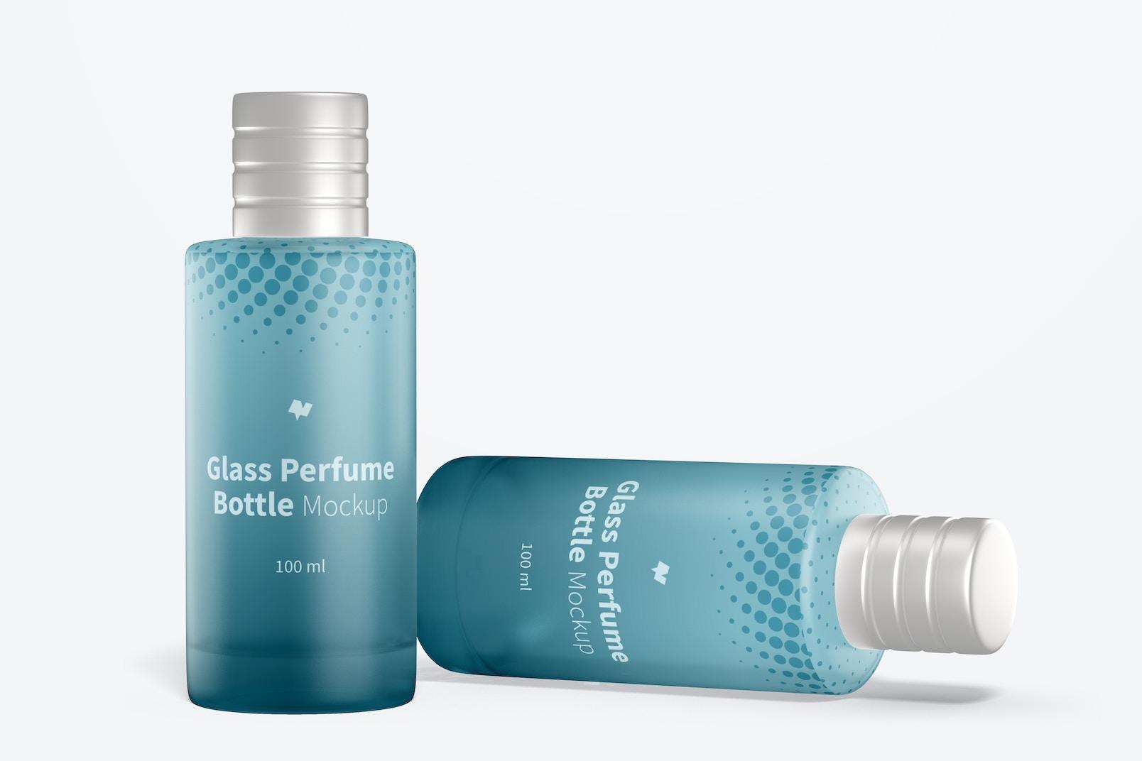 100 ml Glass Perfume Bottles Mockup