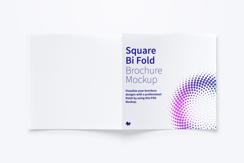 Square Bi Fold Brochure Mockup 03