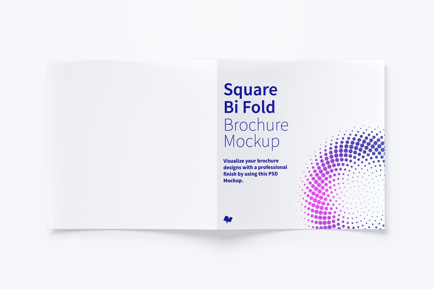 Square Bi Fold Brochure Mockup 03 by Original Mockups on Original Mockups