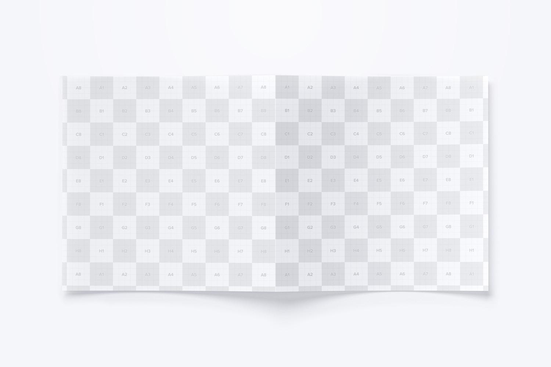 Maqueta de un Folleto Díptico Cuadrado 03 (3) por Original Mockups en Original Mockups