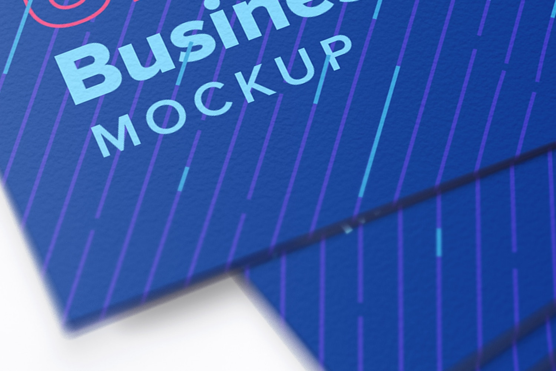 Maqueta de tarjetas de presentacion formato UK 04