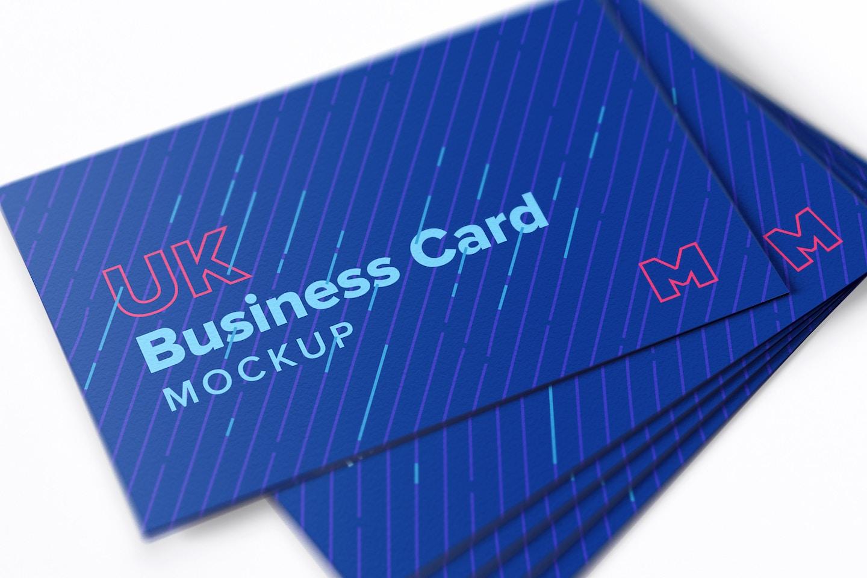 UK Business Cards Mockup 04