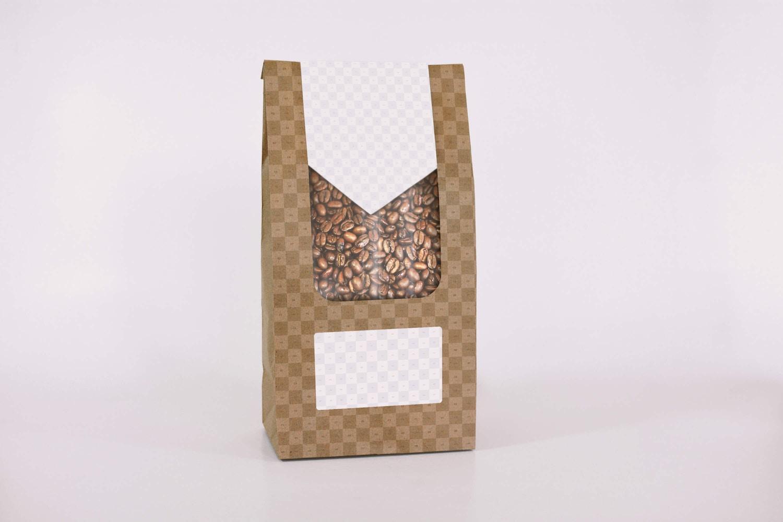 Coffee Bag Mockup With Transparent Window