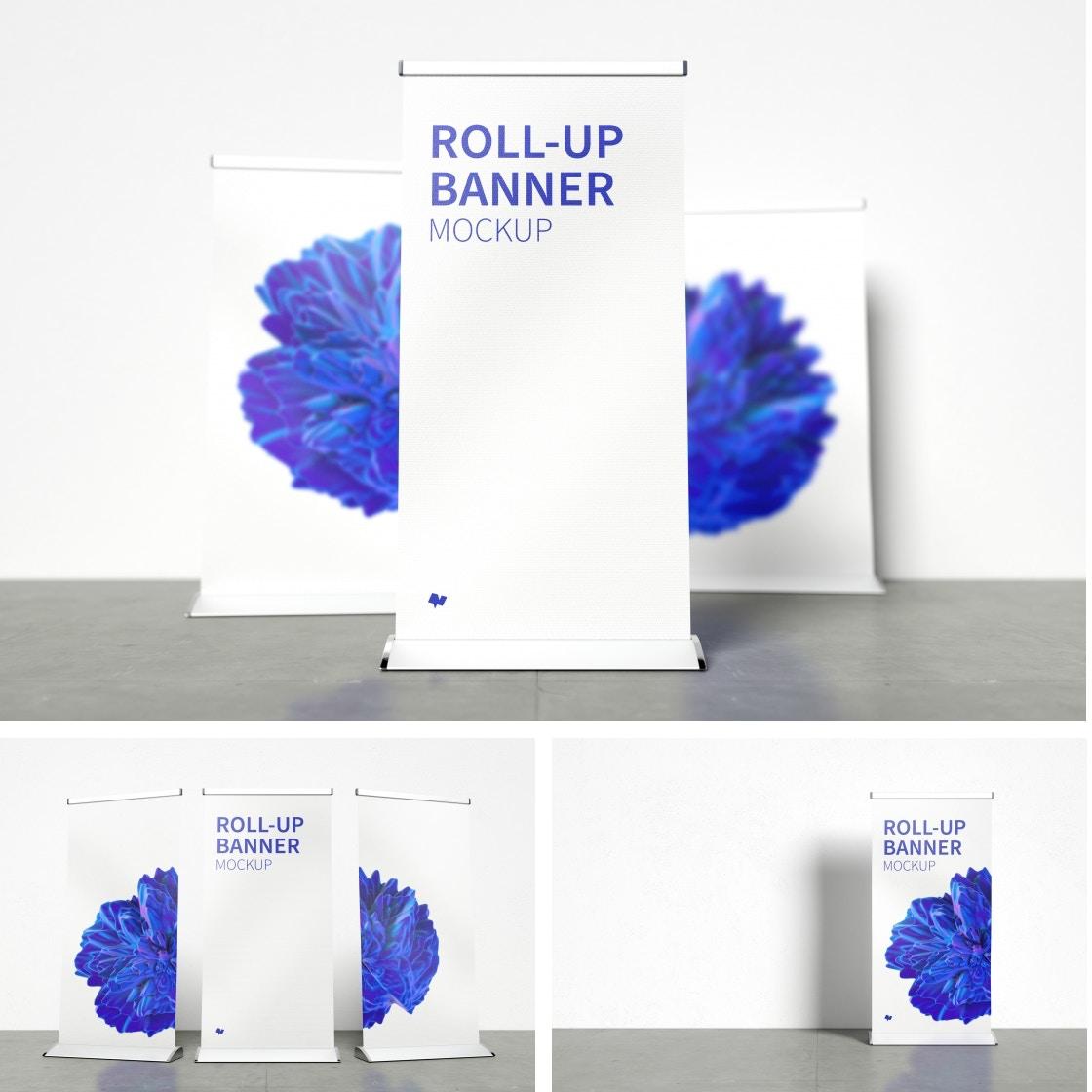 Roll-Up Banner Mockups Poster