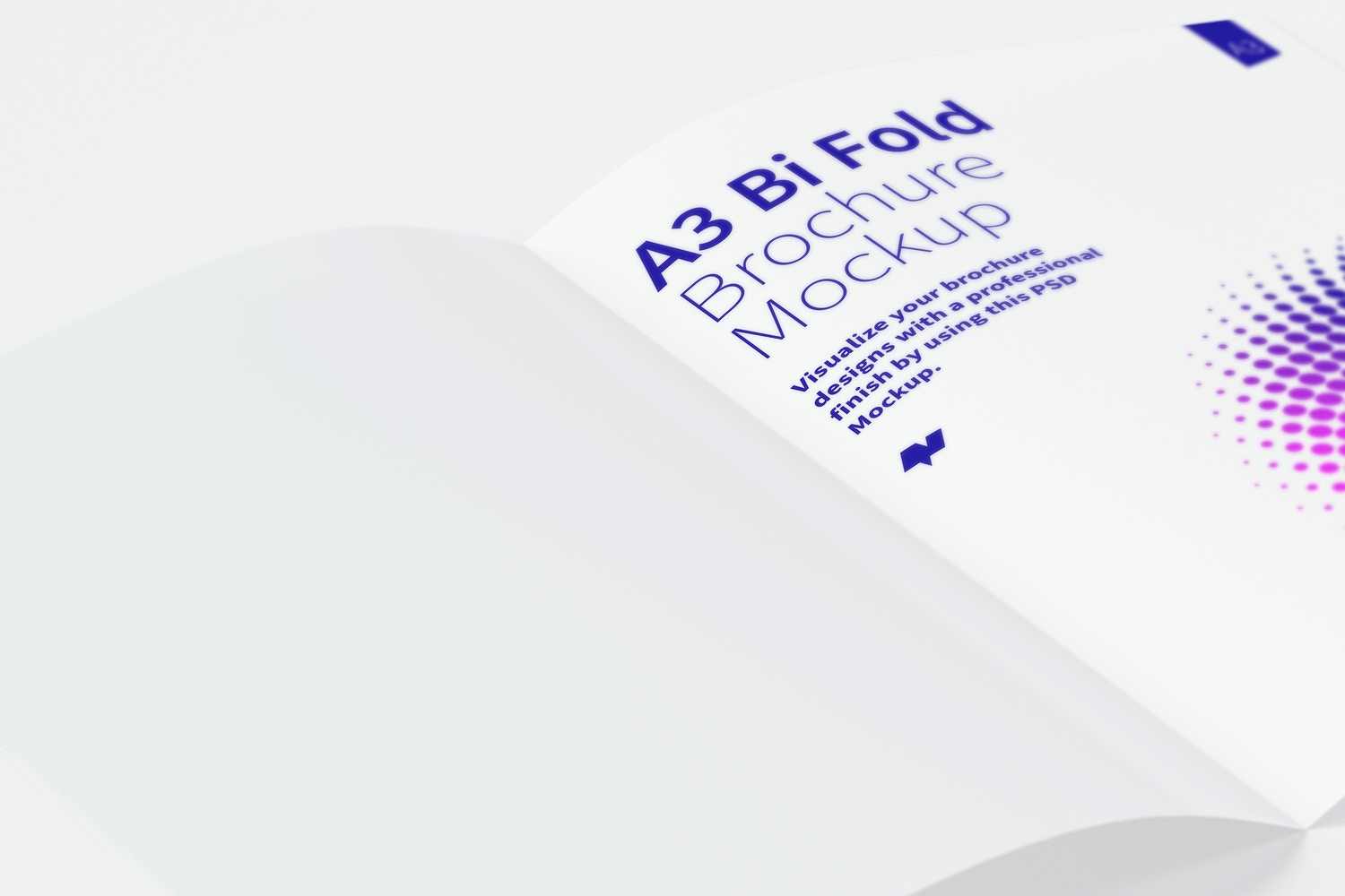 A3 Bi Fold Brochure Mockup 04 by Original Mockups on Original Mockups