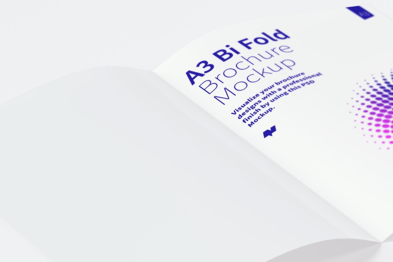 Maqueta de un Folleto Díptico A3 04