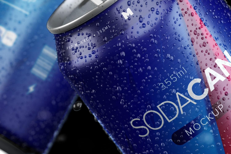 355ml Soda Can Mockup 04 (3) by Original Mockups on Original Mockups