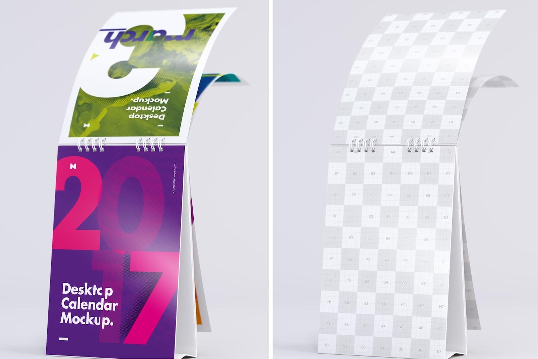 Maqueta de Calendario de Escritorio Pasando Páginas 2 por Original Mockups en Original Mockups