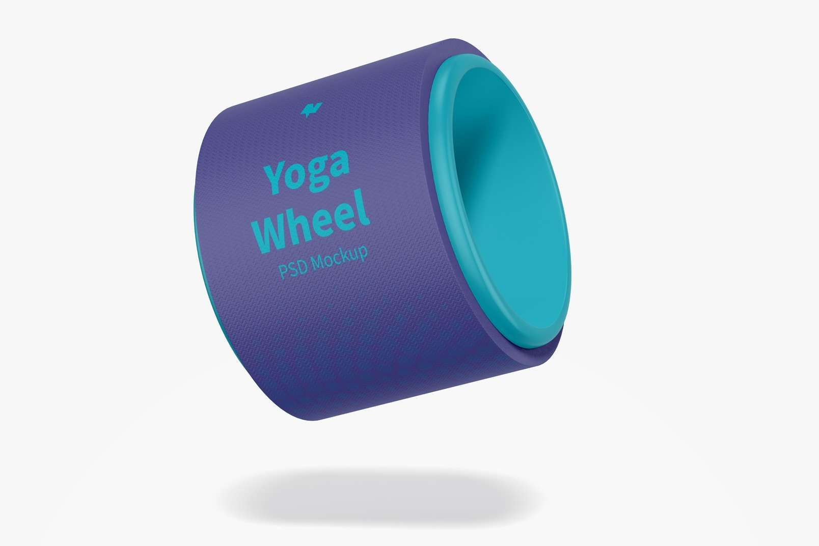 Yoga Wheel Mockup, Floating