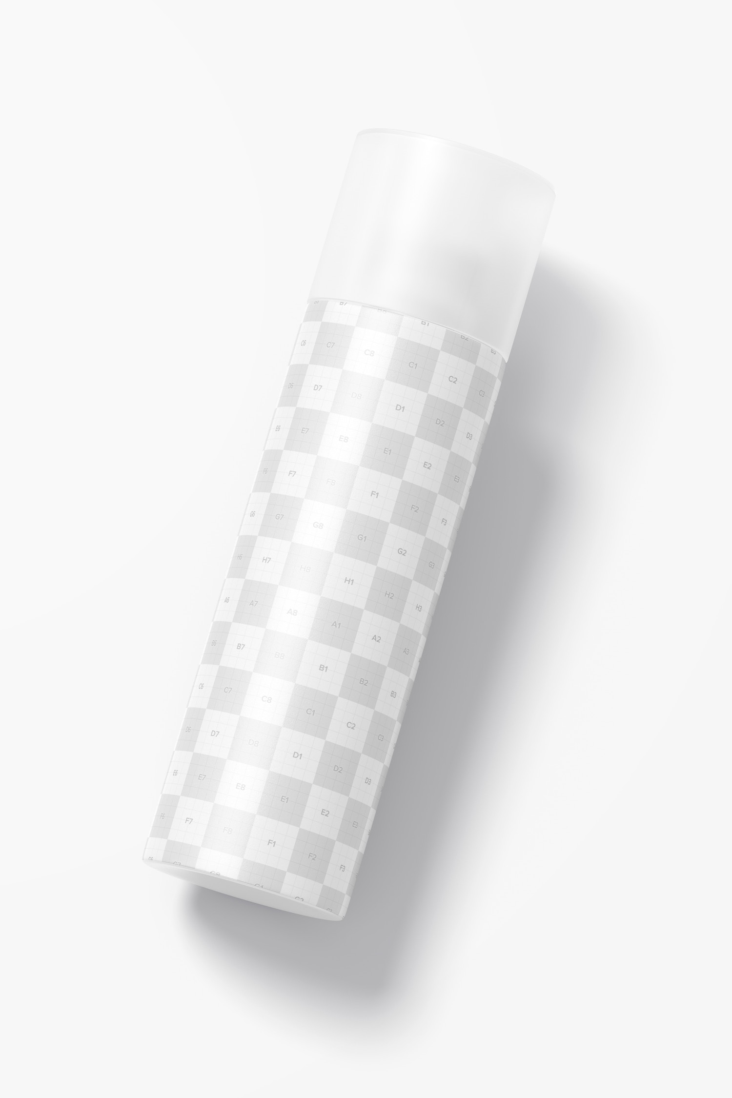 5 oz Plastic Bottle Mockup, Top View