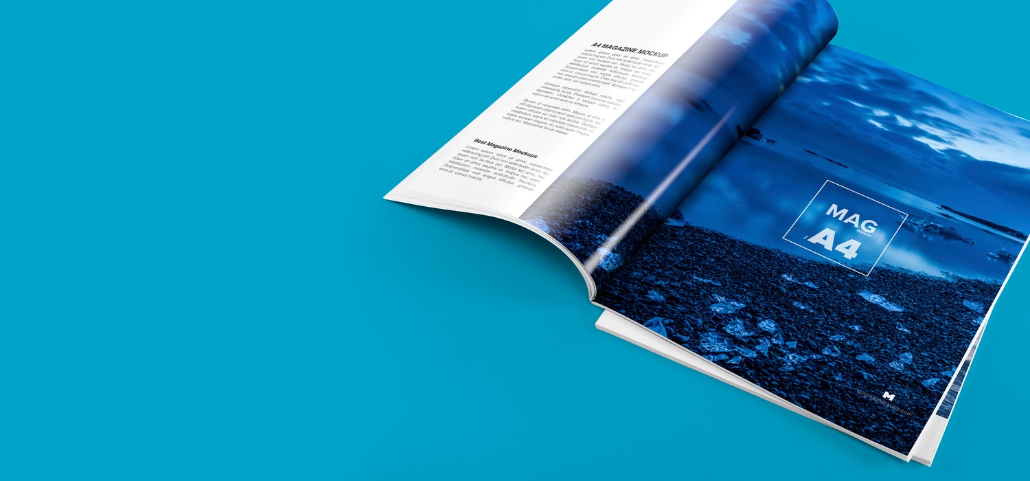 A4 Magazine Mockups by Original Mockups on Original Mockups