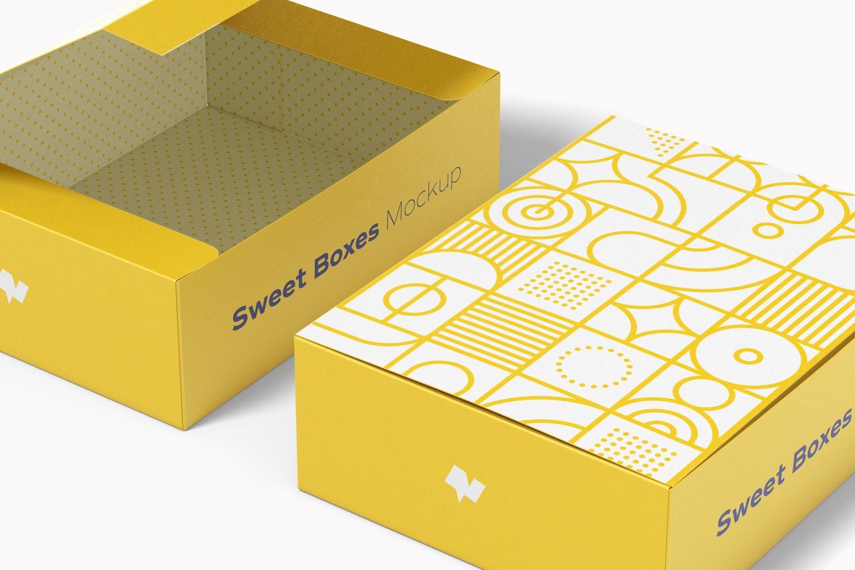 Sweet Box Mockup, Close Up