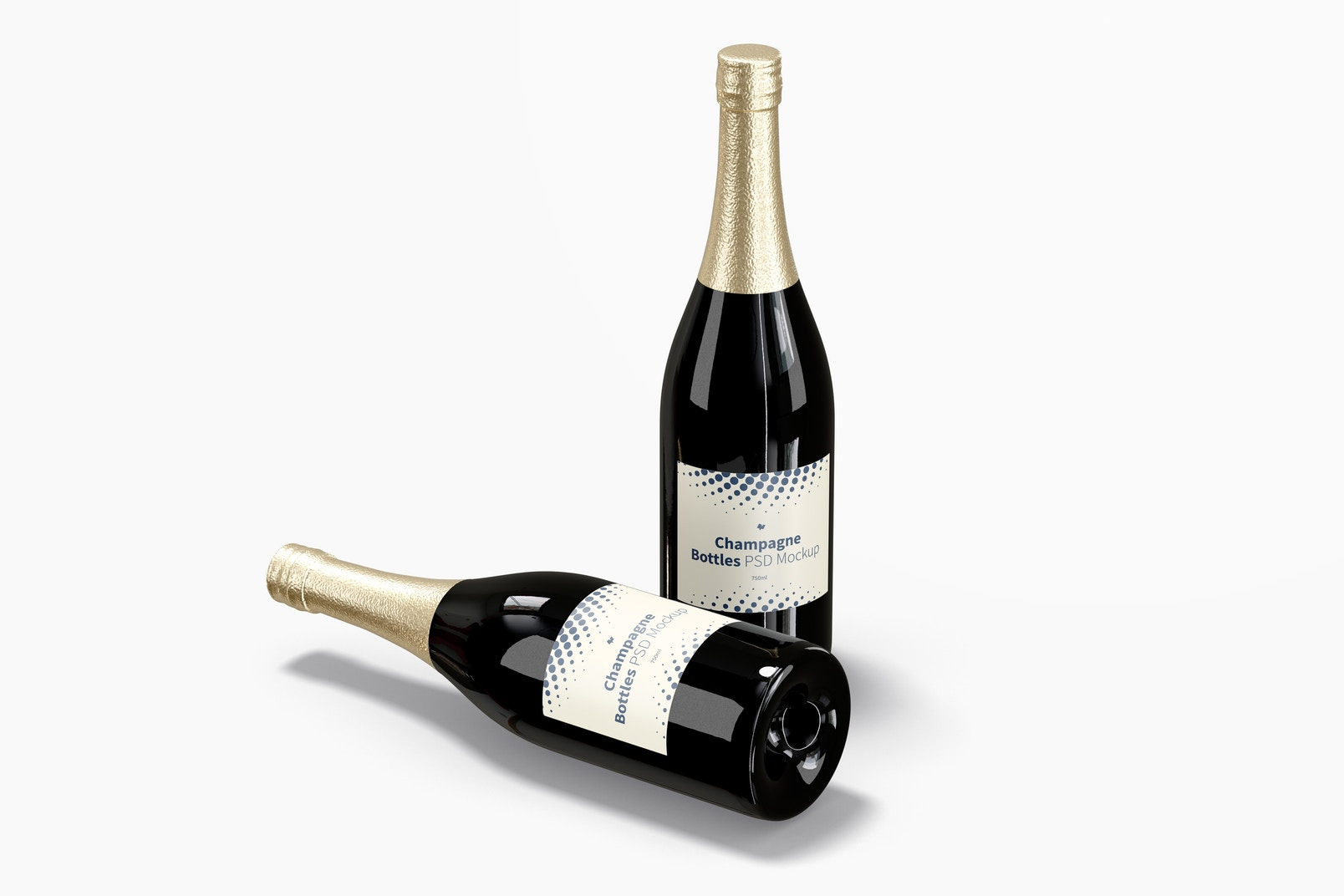 Champagne Bottles Mockup