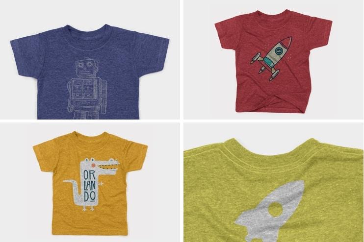 Kids Triblend T-shirt Mockup Pack