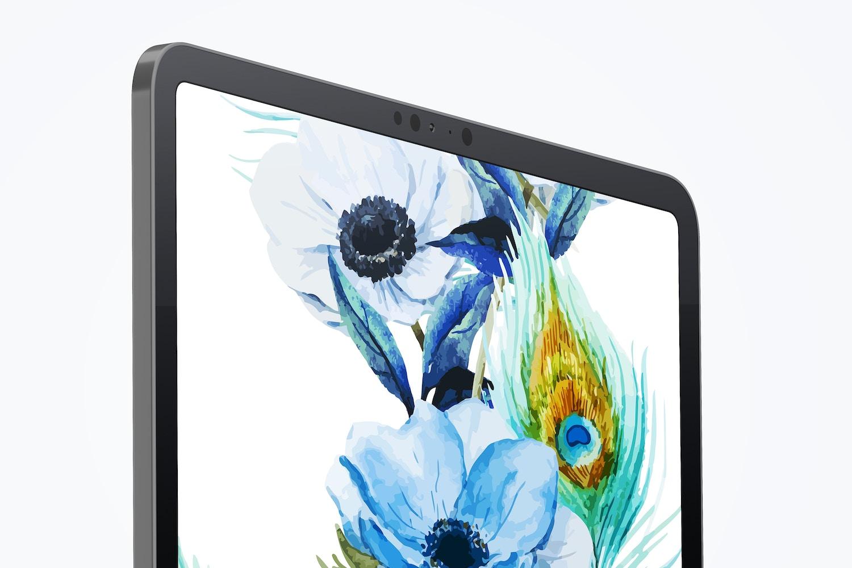 """Clay iPad Pro 12.9"""" Mockup, Close Up"""