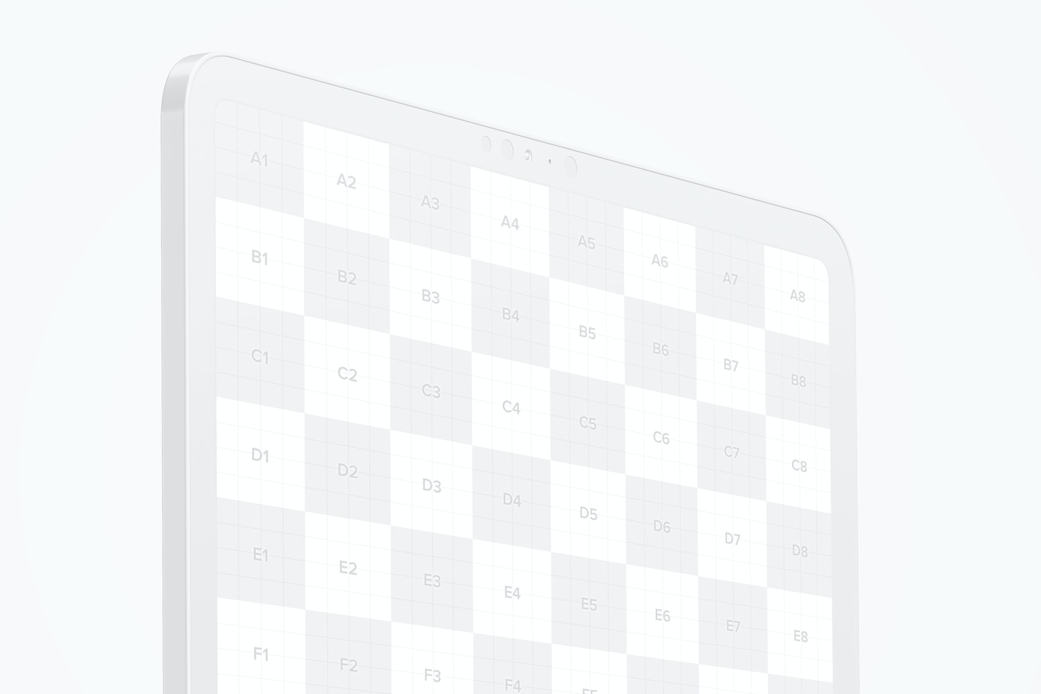 Grid view to show you where will display your design.
