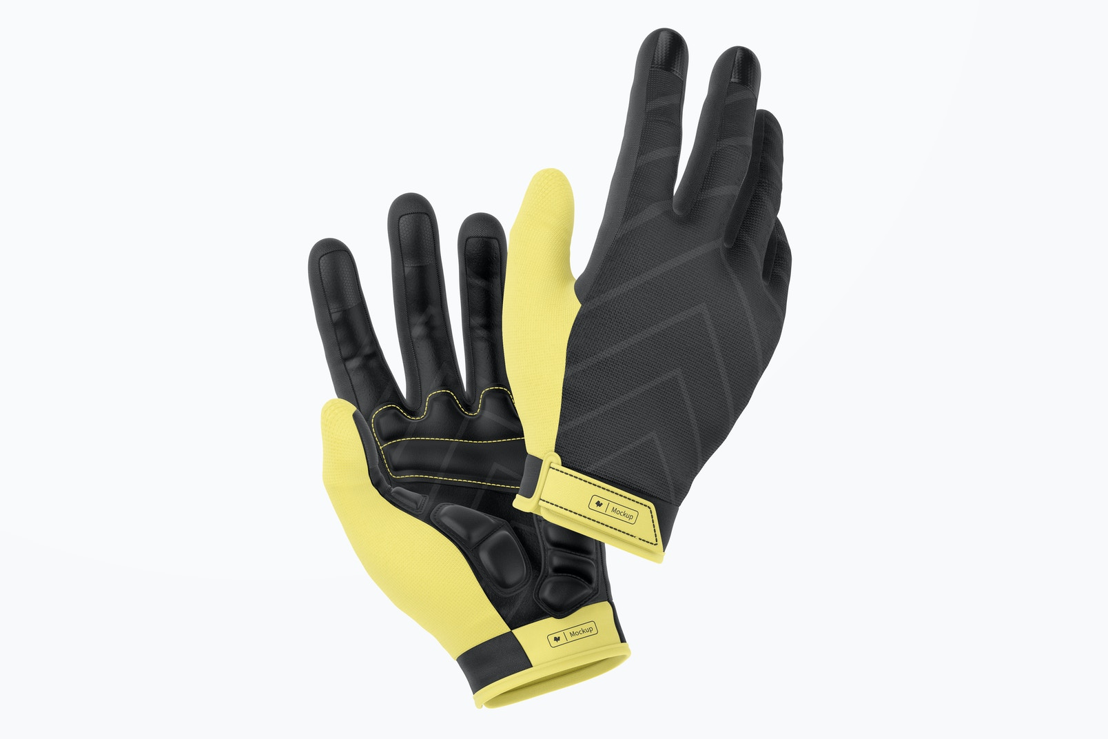 Cycling Gloves Mountain Mockup, Floating