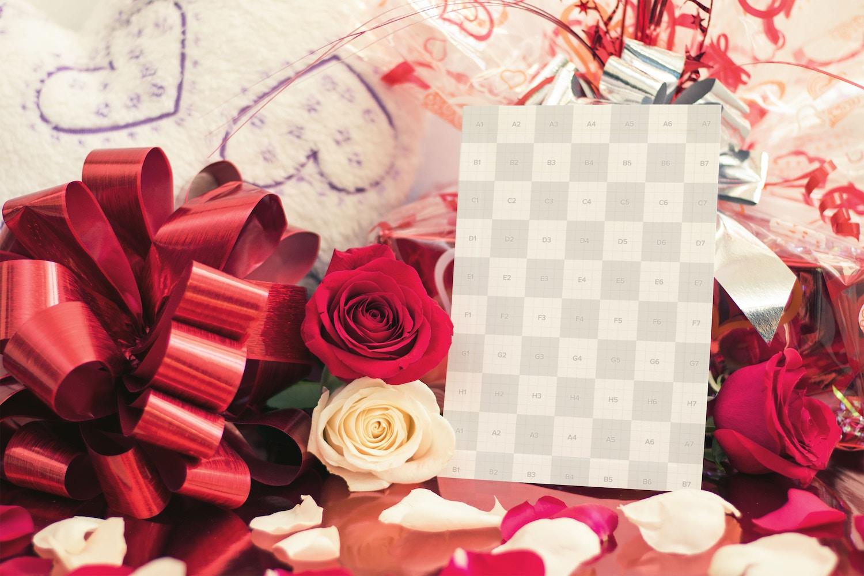 Valentine Card Mockup 03 (2) por Eru  en Original Mockups