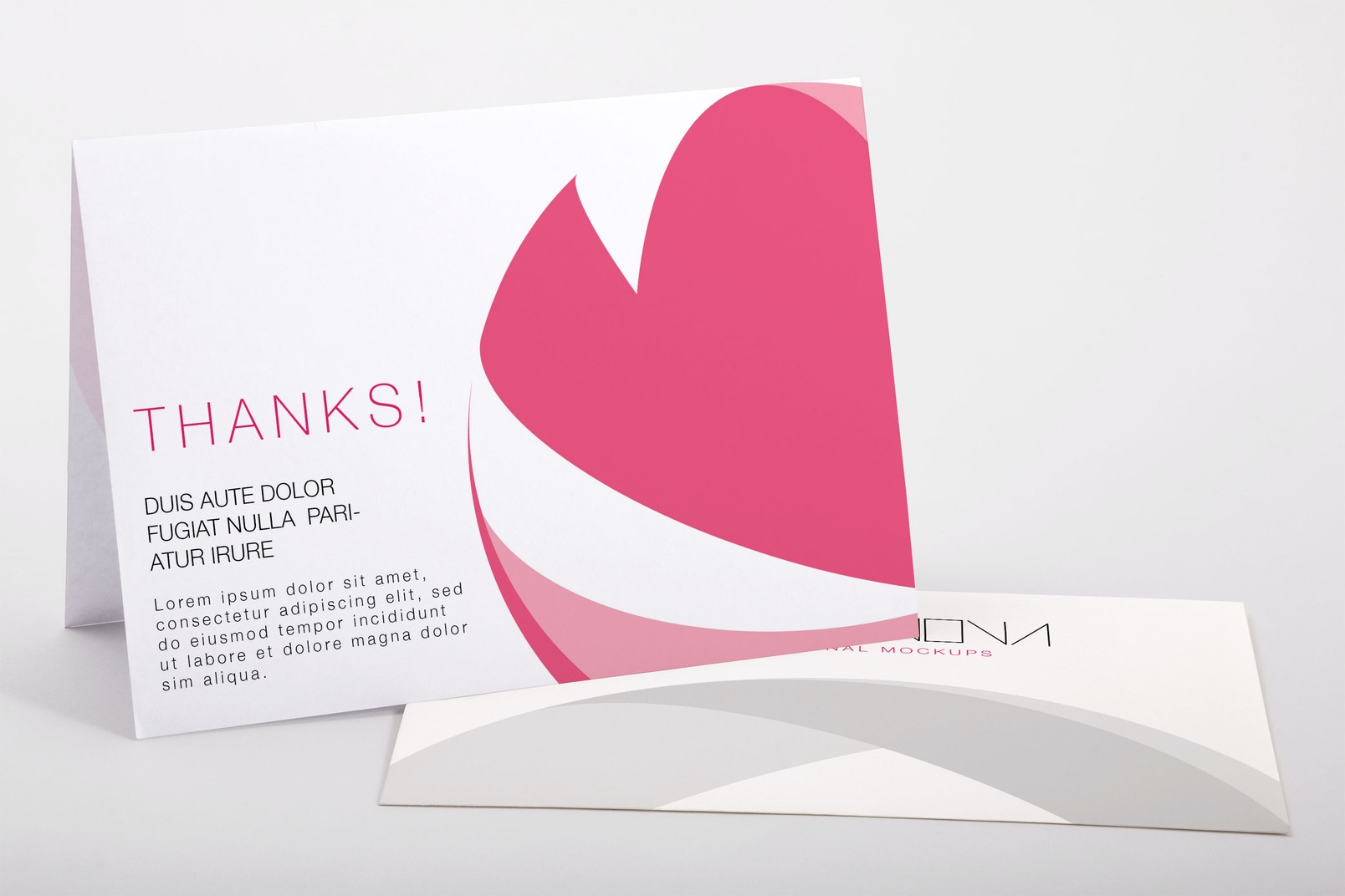 Bifold Thank You Card PSD Mockup 01