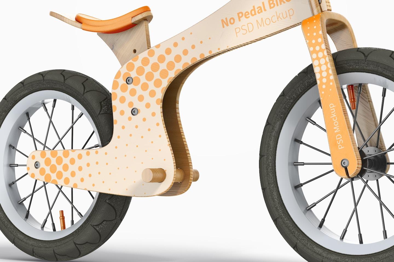 No Pedal Bike Mockup, Close-Up