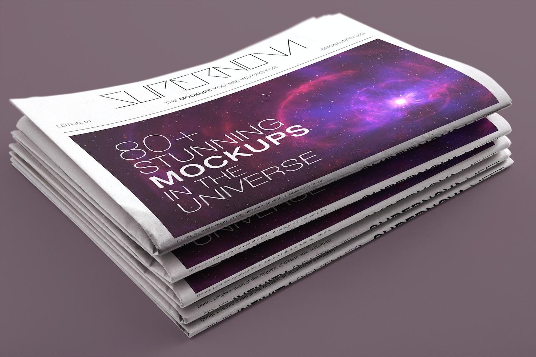Newspaper PSD Mockup 04