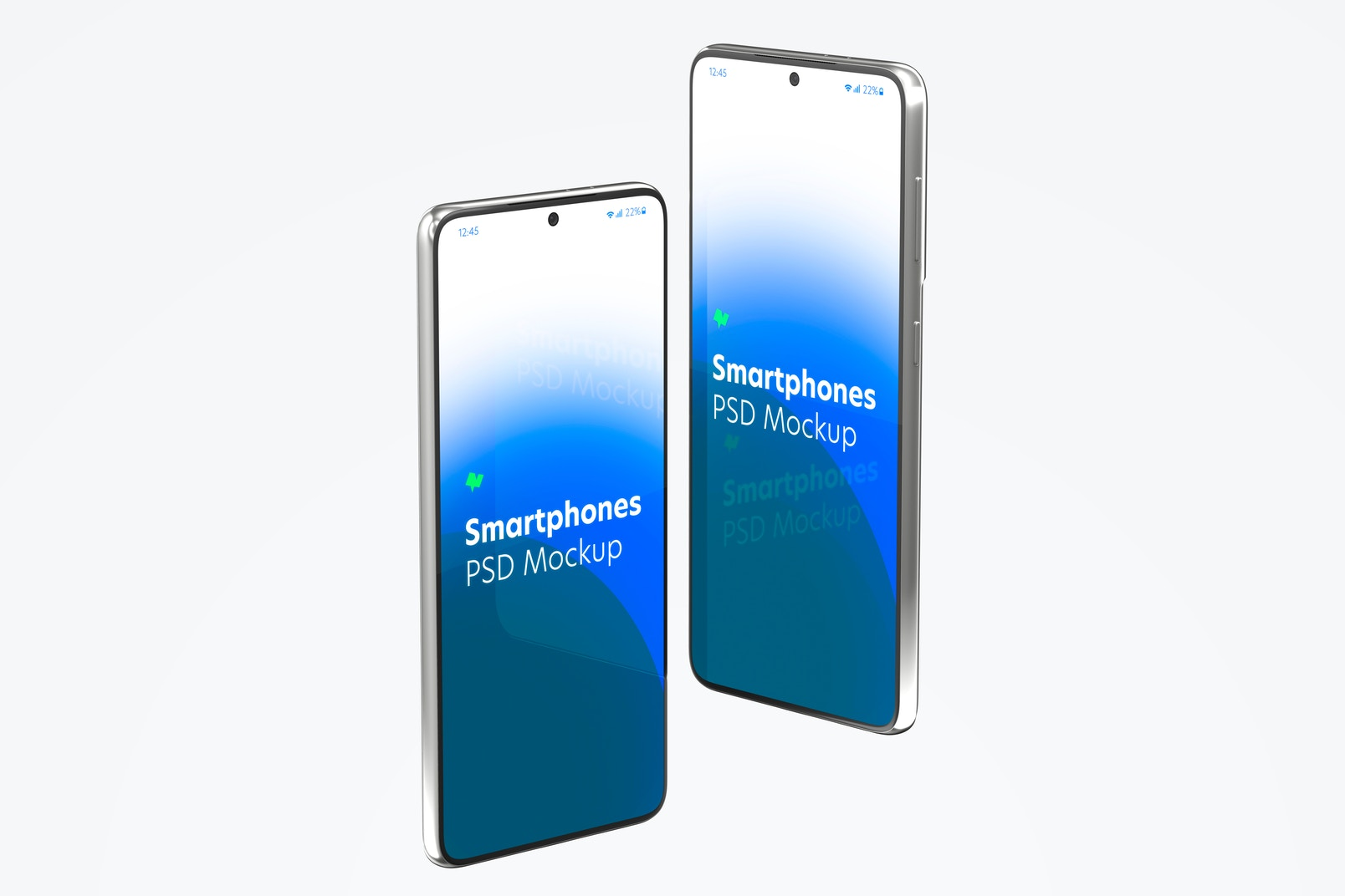 Samsung S21 Mockup, Right and Left Side View