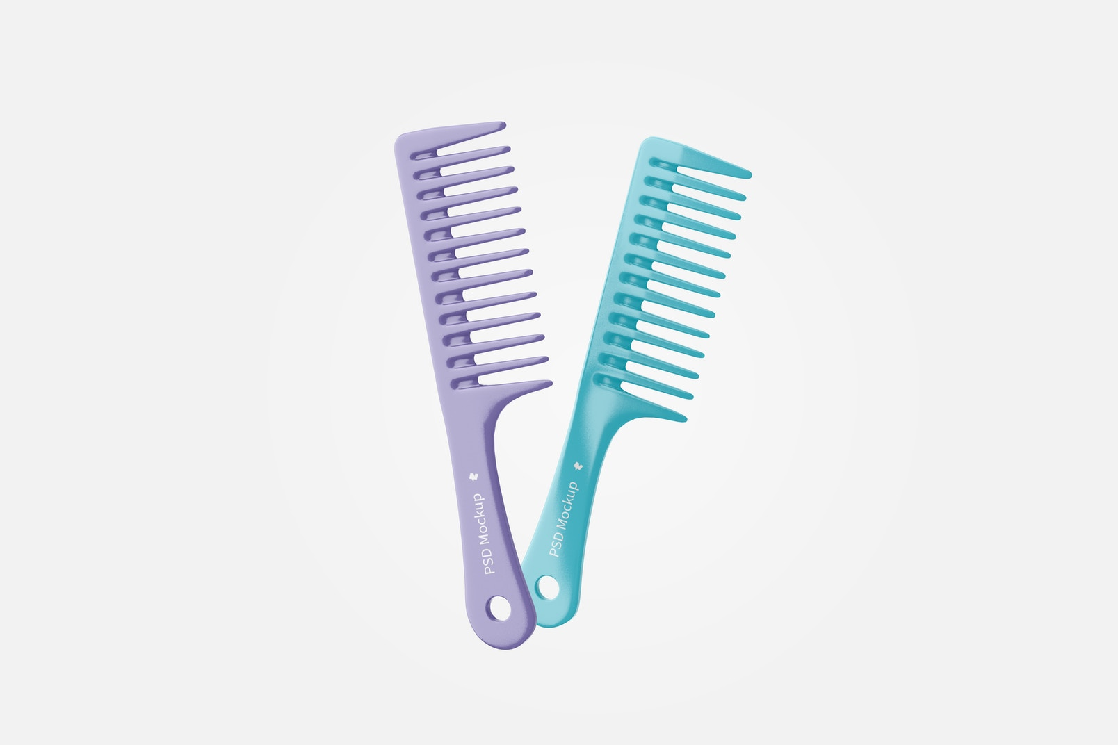 Wide Tooth Combs Mockup, Floating