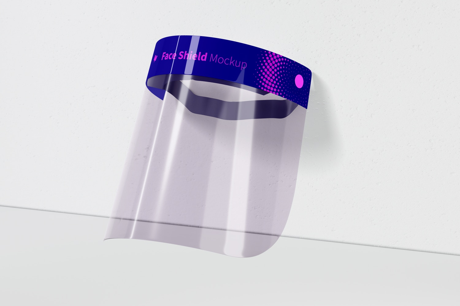 Face Shield Mockup, Perspective View