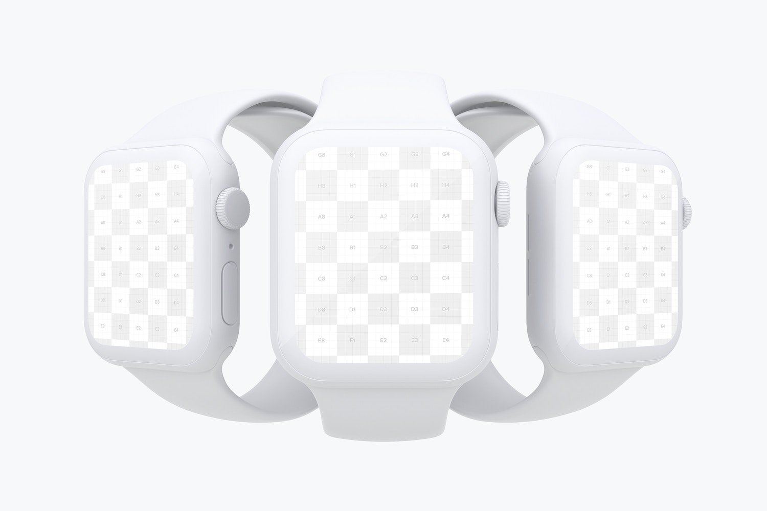 Clay Apple Watch Series 4 (44mm) Mockup 02 (2) by Original Mockups on Original Mockups