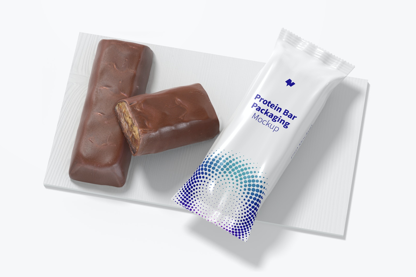 Protein Bar Packaging Mockup, Top View